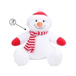 Peluche Boneco de Neve com personalização em bordado