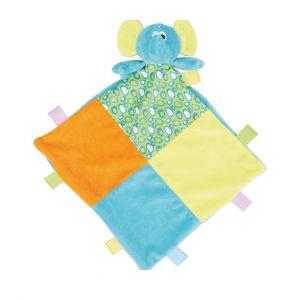 Manta Peluche Elefante para bebe,com personalização em bordado