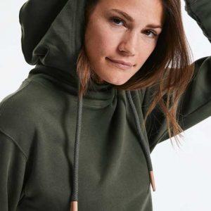Sweatshirt com Capuz Orgânica Unissexo Premium, ideal para presente personalizado