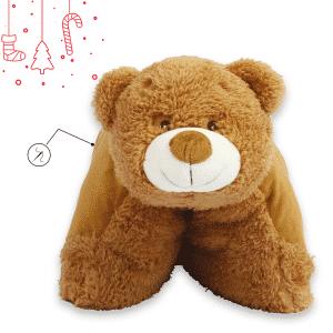 Almofada Urso de Peluche para bebé, com Personalização em Bordado